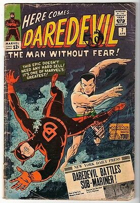 MARVEL Comics DAREDEVIL CENT COPY VOL 1 Issue 7 VG- 1964 1st RED COSTUME