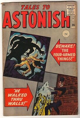 Marvel Comics FN-  #26 TALES TO ASTONISH  HE WALKED THROUGH US 1961