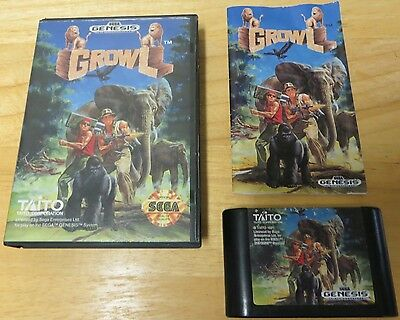 Growl Sega Genesis with Box and Instructions, hard to find game