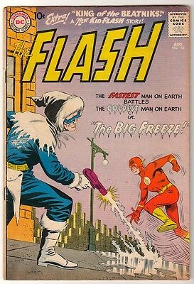 DC COMICS 114 FLASH silver age 1960 JLA CAPTAIN COLD VG 4.0