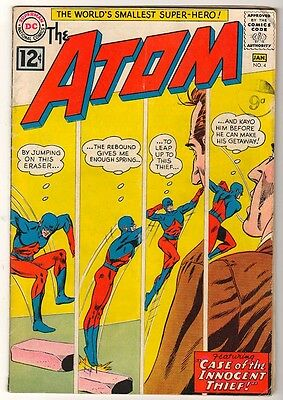 DC Comics Silver age #4 1962 FN ATOM  5.0  case of the innocent thief