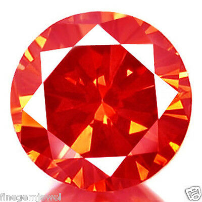 0.52ct HUGE RARE NATURAL SPARKLING BRIGHT RED DIAMOND EARTH MINED REAL DIAMOND!