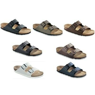 Birkenstock Arizona Sandals Birko Flor - white brown blue black - narrow regular