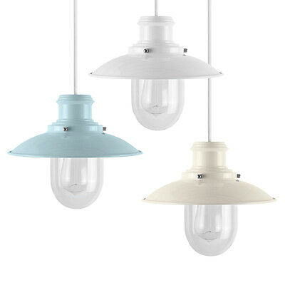 Vintage Style Metal Fishermans Ceiling Pendant Light Shades Easy Fit Lampshades