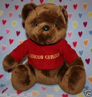 New Las Vegas Circus Circus Casino Hotel Plush Brown Bear Red Shirt Reno Nevada
