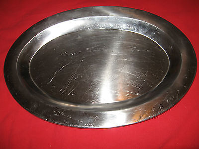 ONEIDA Large Oval Turkey/Serving Tray 18/8 Stainless Steel - Made in Japan