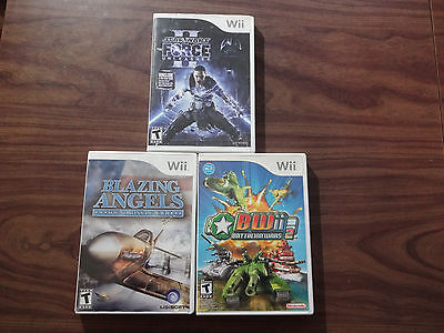 Battalion Wars 2 + Blazing Angels + Star Wars The Force Unleashed II (Wii) LOT