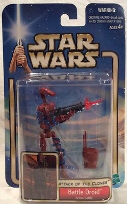 Arena Battle Red BATTLE DROID Star Wars Saga AOTC Collection 2 Action Figure