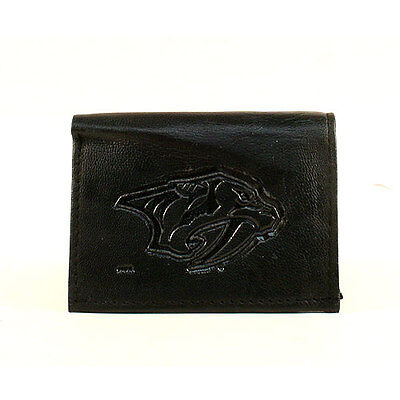 Nashville Predators Black Leather Tri-fold Wallet