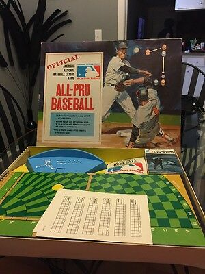 RARE Vintage IDEAL 1969 Official ALL-PRO BASEBALL Pro Sports MLB Board Game