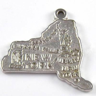 Sterling Silver Rochester Niagara Falls Albany New York State Charm
