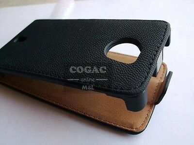 29609542583 Funda Carcasa Piel Negra Hq-Gt Para Samsung Galaxy S3 Mini I8190 Leather