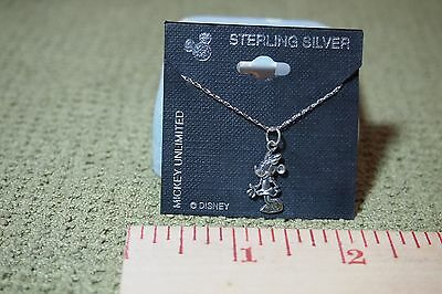 Minnie Mouse sterling silver necklace and pendant,Mickey Unlimited Free shipping