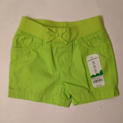 Baby Infant Toddler Girls Lime Green St Patricks Day Beach Shorts 12 To 18 Month
