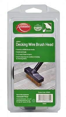 Ambassador Decking Wire Brush Head Durable Connects To Handle