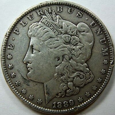 1889 P Morgan Silver Dollar US Mint Coin 11439