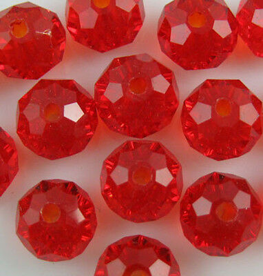 100pcs 4mm DIY Jewelry Faceted Rondelle crystal #5040 3x4mm Beads Red colors B