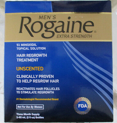 Rogaine 3 Months Supply EXTRA STRENGTH Hair Growth Treatment NEW SEALED BOX