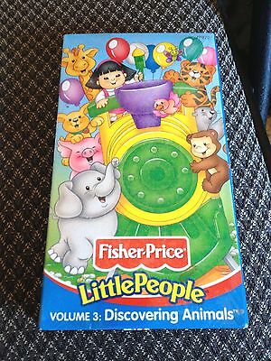 FISHER-PRICE Little People Volume 3 DISCOVERING ANIMALS Mattel VHS Preschool New