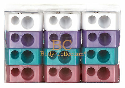 Body Collection Duo Cosmetic Pencil Sharpener 4 Great Colours To Choose