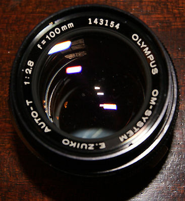 Olympus Zuiko OM Auto T 100mm 2.8 lens, priced to sell