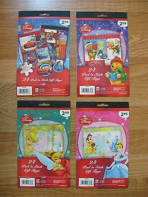 DISNEY PEEL AND STICK GIFT TAGS 24 Stickers PAPER MAGIC GROUP