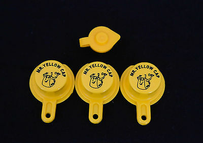 3 - Wedco Scepter Essence Midwest Eagle Yellow Gas Can Cap FREE VENT - MYC-3CFV
