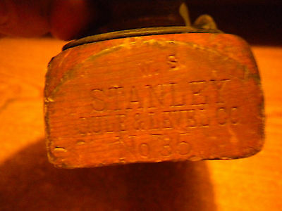 VINTAGE STANLEY RULE& LEVEL CO. NO. 35 TRANSITIONAL WOOD PLANE 91/2X21/2
