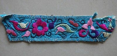 Old Tribal Exotic Chinese  Minority people's hand embroidery
