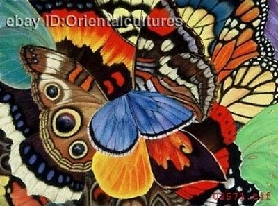 """Chinese 100% Real Natural Silk thread,Hand Embroidery Kits: butterflies 16"""""""