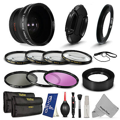 Essential Lens Filter & Accessory Kit for Sony Alpha NEX-3 NEX-5 NEX-5N NEX-7