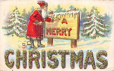 Lot of 2 Early/Vintage Santa Christmas Early 1900s Postcards #44063