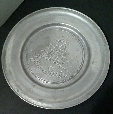 "Vintage Wilton-Columbia ""The Ship"" Pewter RWP Plate"