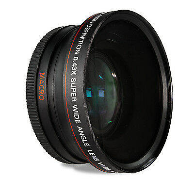 72MM HD Wide Angle Fisheye Lens for Canon EF 20mm f/2.8 USM 28-200mm 28-135mm