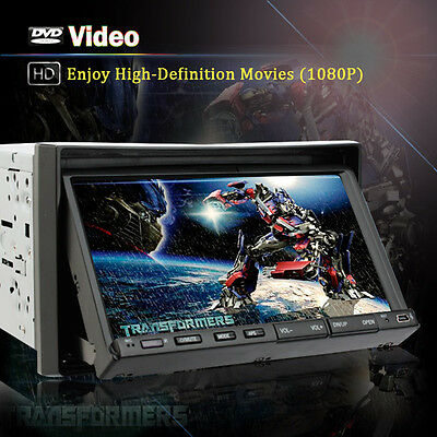 """Double 2 Din 7"""" Car DVD CD MP3 Player Touch Screen In Dash Stereo Radio"""