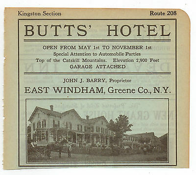 Vintage, Original, 1915 - The Butts' Hotel Ad - East Windham, New York
