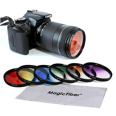 67MM Graduated Color Filter Kit for Canon Nikon DSLR with 17-85mm 18-135mm