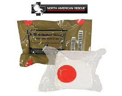 "North American Rescue NAR S-Rolled Gauze-IFAK-4.5""X4.1Yd-2019 Expiration!"