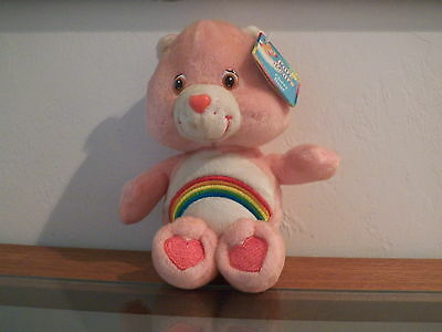 """Care Bears """" Cheer Bear """" 2002. Has all Tags. MINT Condition. 8"""" to 9"""" Tall."""