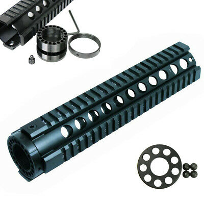 """10"""" Free Float Hand guard Picatinny Quad Rail with Front End Cap - Black"""