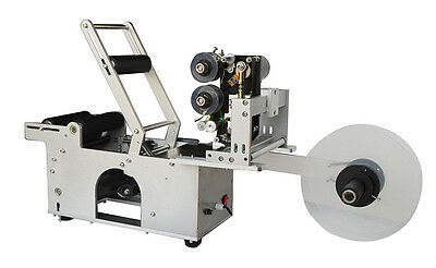 110V Round Bottle Coding and Labeling Machine with Printer New Labeller LT-50