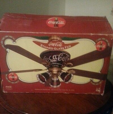Coca Cola Stained Glass Ceiling Fan