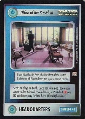 Office of the President - SR Foil - Star Trek CCG 1E Reflections - Decipher