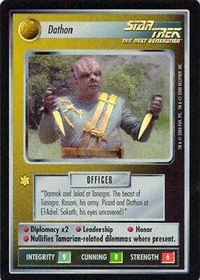 Dathon - SR Foil - Star Trek CCG 1E Reflections - Decipher