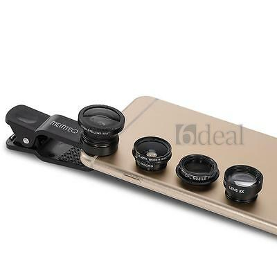 5in1 Fisheye Macro Wide Angle Teleconverter CPL Filter Camera Lens For iPhone 6+