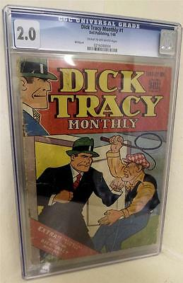 MARVEL TIMELY Comics BELL DICK TRACY  Crime 1 1948 Golden age CGC 2.5  detective