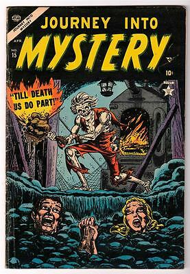MARVEL Comics 5.0 Journey into mystery #15 1953 Golden FN- TIL DEATH DO US PART