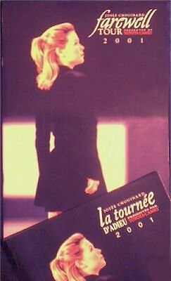 2001 Josee Chouinard Farewell Tour Program MINT - FRENCH EDITION ONLY