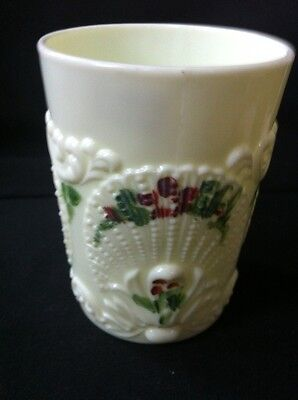 Antique Vintage Christmas Northwood Geneva Custard Glass Tumbler Cup 1880s