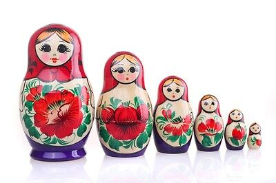 "Russian Nesting Dolls Nolinsk Matryoshka / Matreshka 6 pc set ""Vyatskaya"""